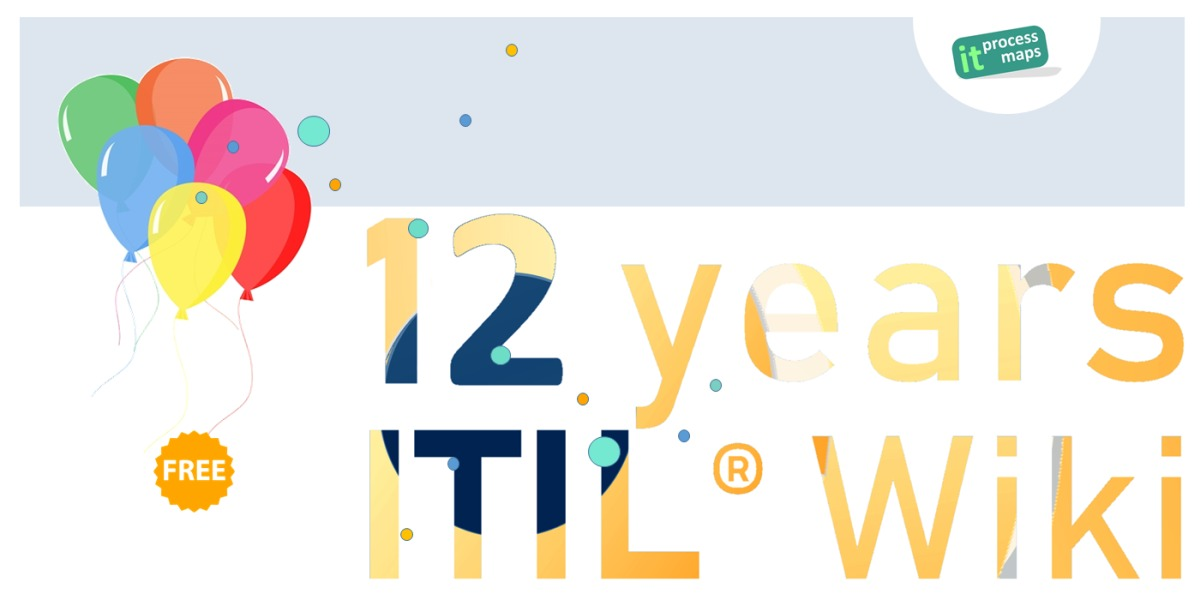 IT Process Wiki - the ITIL® Wiki - celebrates its anniversary: This Wiki contains free ITIL resources and (document) templates for IT service management and ISO 20000.