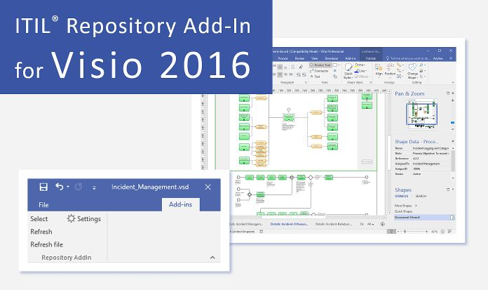 ITIL Repository Add-In for Visio 2016